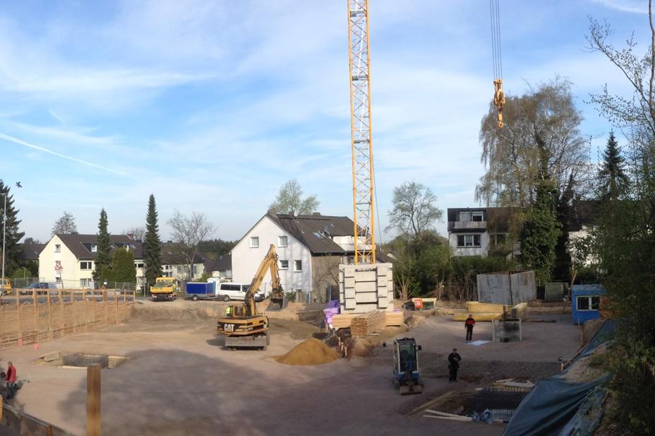 Ellscheider Bogen Baubeginn