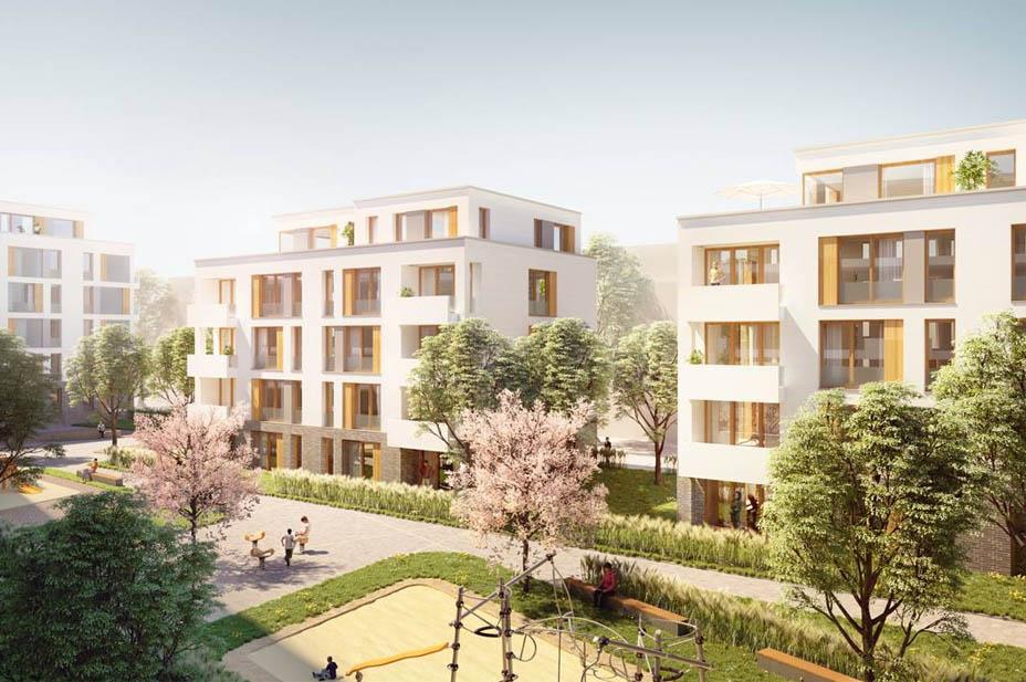 """2. Platz Beim Wettbewerb """"Genossenschaftliches Wohnen Auf Dem Schlösser Areal"""""""